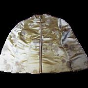Elegant Edge to Edge Vintage Oriental Silk Brocade Jacket