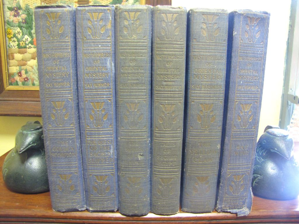 """1916-21, """"Masterpieces of Oriental Mystery"""" by Sax Rohmer, 6 Book Set"""