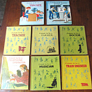 Six Children's Books, I Want To Be a (Doctor, Farmer, Service Station Attendant, Train Engineer, Musician & Telephone Operator)‏