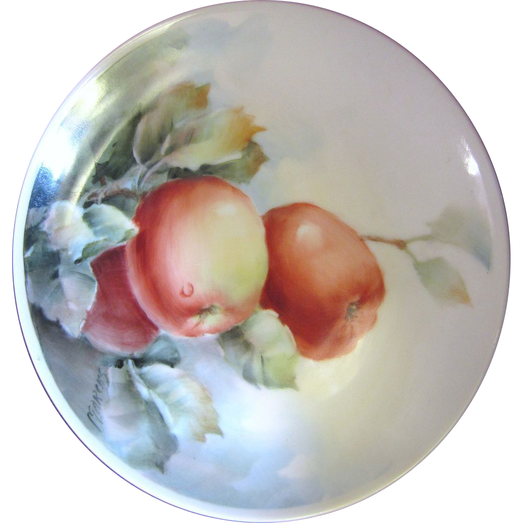Beautiful Hand Painted Vintage Still Life Design Wall Plate