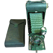 Antique Pocket Kodak Camera No. 1A with Carrying Case - Sparkling Green - Very Nice!‏