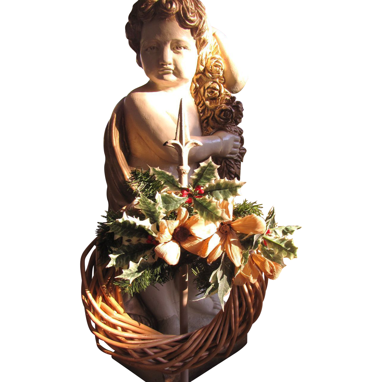 Pretty Small & Rustic Vintage Christmas Wreath