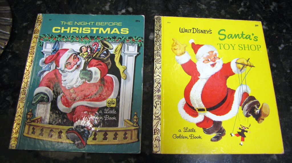 Santa's Toy Shop and The Night Before Christmas, Little Golden Books‏