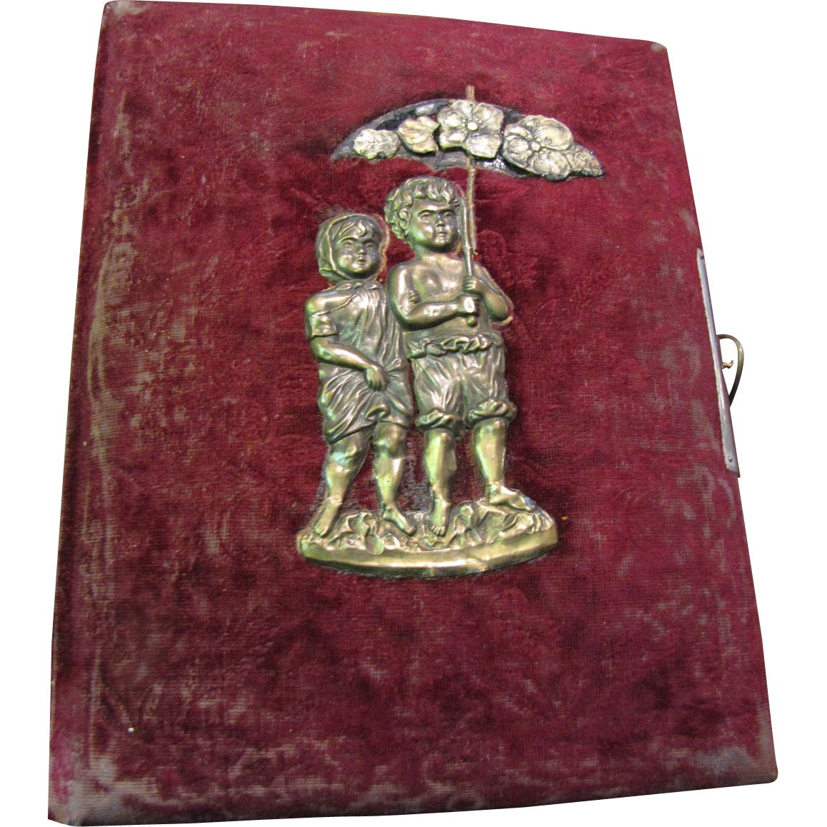 Lovely Antique Photo Album, Beautiful Cover!