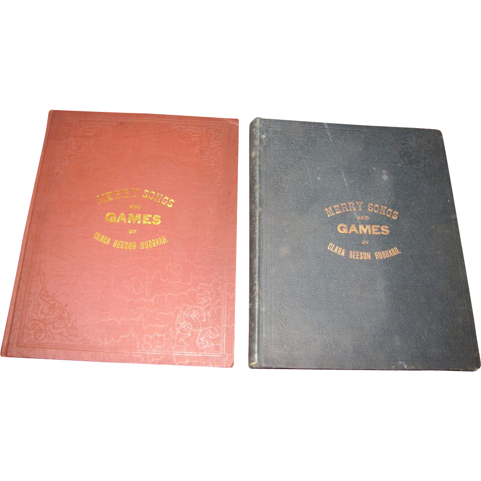 1881 & 1887 Merry Songs and Games, Rare Victorian Childrens Songbooks