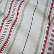 "Super  66"" Bolt End of 12 Color Screen Printed Cotton Stripe"