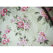 "100"" of 16 Color Screen Printed Waverly Floral Cotton"