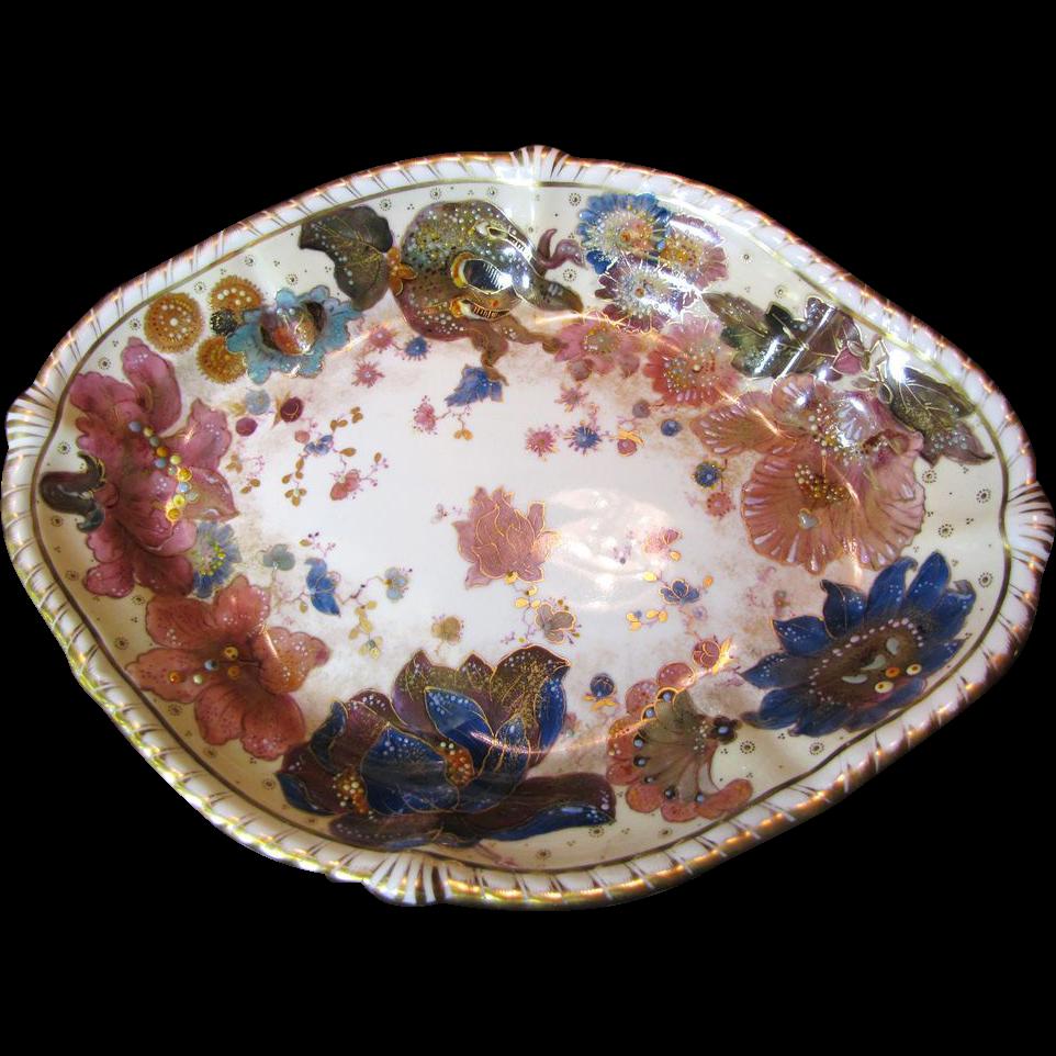 1877 90 Antique Crown Derby Platter For J E Caldwell