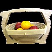 Wonderful Folding Hardwood Basket by Crosbie Crafts