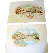 Pair of Advertising Postcards circa 1912 Hill Dental Co. Lancaster PA No.1..‏