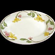Pillivuyt French Art Nouveau Platter, Lovely Floral Design