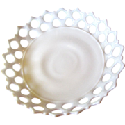 Huge Westmoreland Lace Edged Milk Glass Centerpiece Bowl No 2