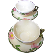 Two Desert Rose Cup & Saucer Sets by Franciscan, Slight Issues