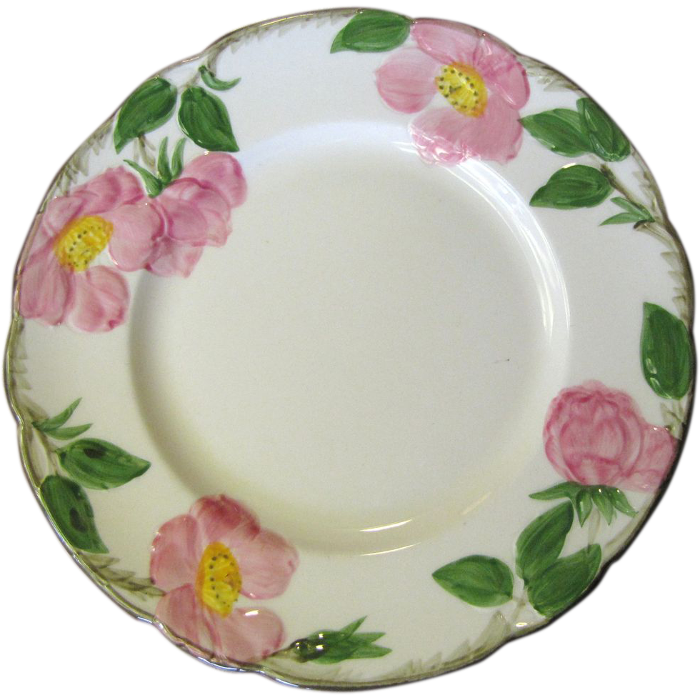 1940 39 S Salad Plate In The Desert Rose Pattern By