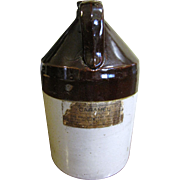 "One Gallon Salt Glazed Stoneware Jug, Original ""Bruce & West Mfg. Co."" Label"