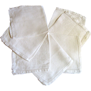"Seven 15"" Cream Linen Napkins, Pretty Mums Damask!"