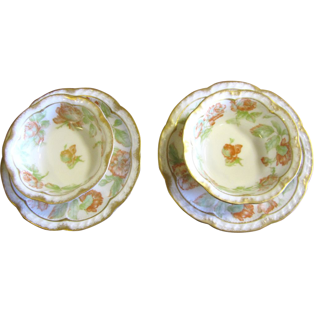 beautifull pair of antique french haviland limoges ramekin dishes with from faywrayantiques on. Black Bedroom Furniture Sets. Home Design Ideas