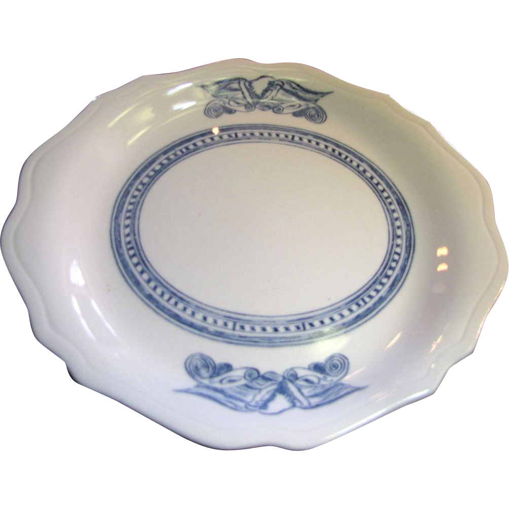 "11"" Americana Syracuse Blue Eagle Oval Restaurant Ware Platter (10 available)"