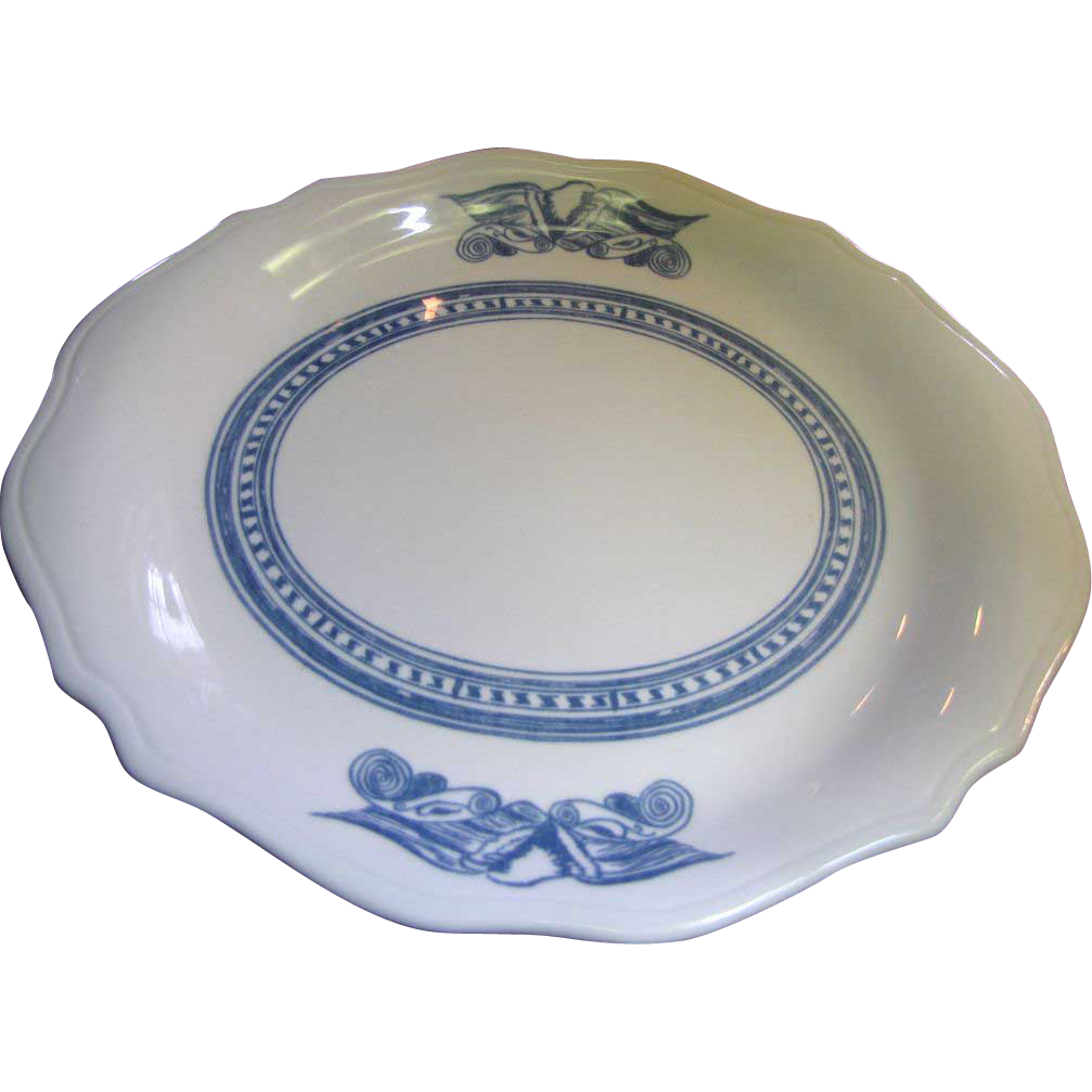 "9"" Americana Syracuse Blue Eagle Oval Restaurant Ware Platter (4 available)"
