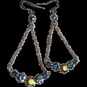 Super Pretty & Delicate Vintage Rhinestone Drop Earrings