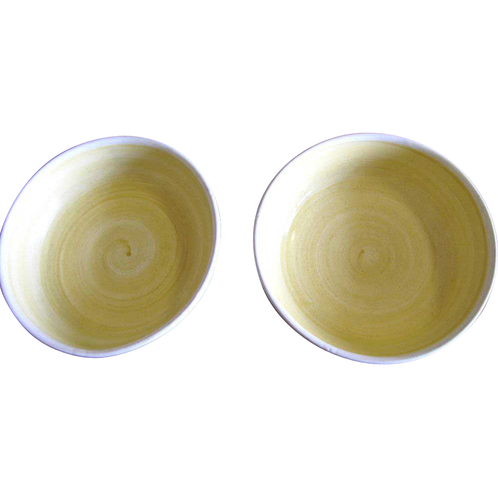Two Lovely Franciscan Hacienda Gold Fruit Desert Bowls