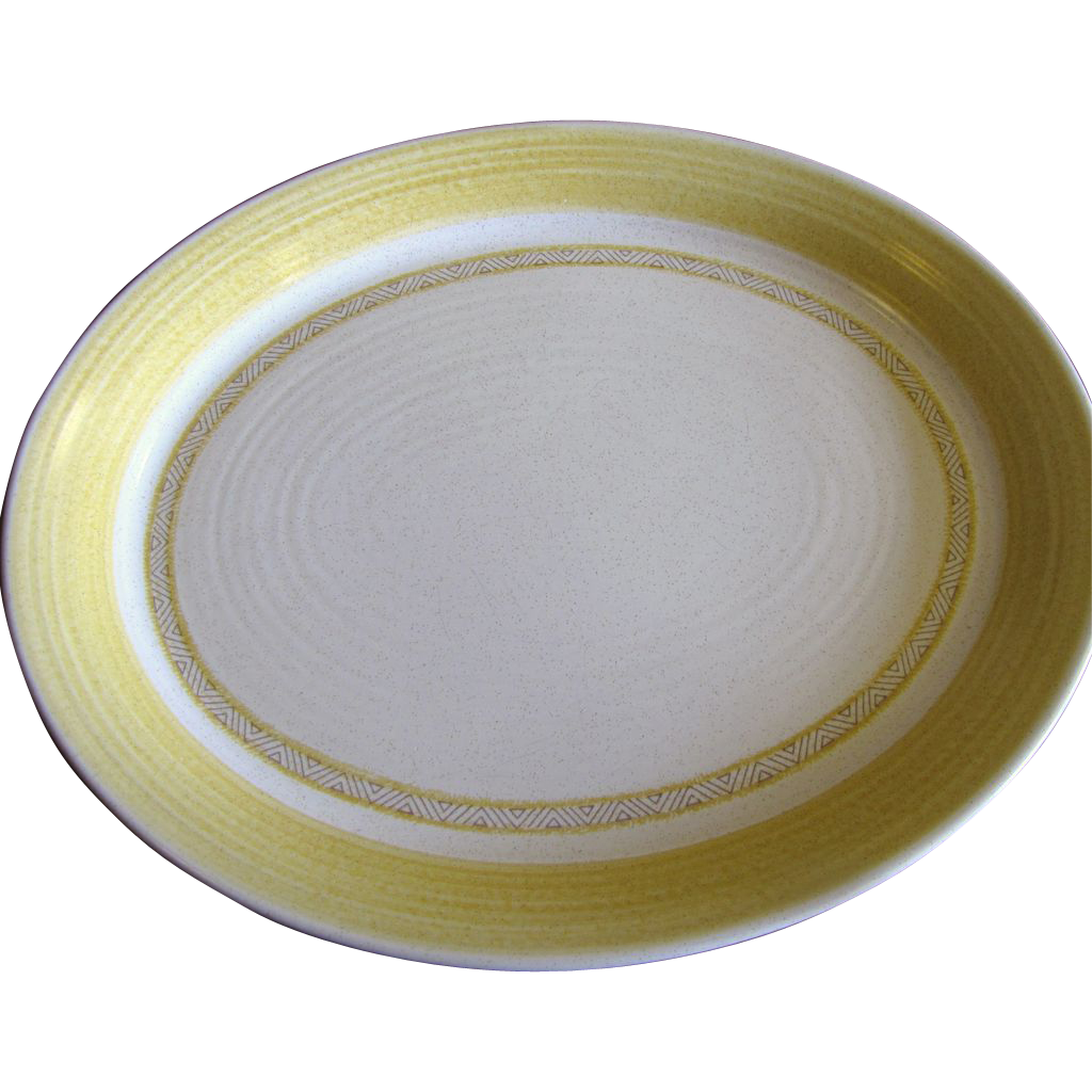 "Large 14"" Serving Platter Hacienda Gold Pattern by Franciscan China"