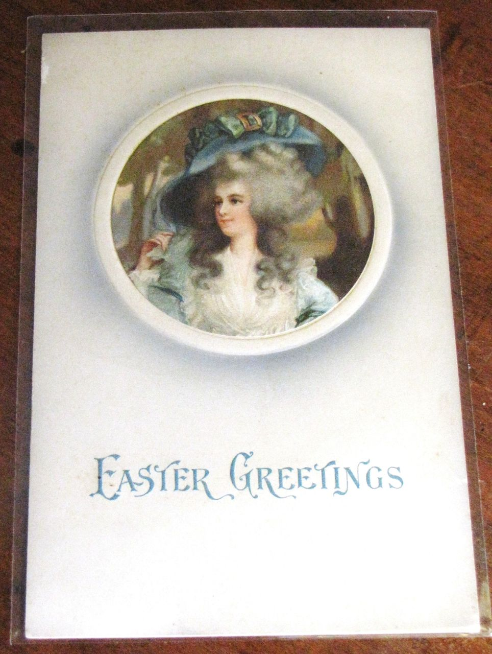 """Easter Greetings"" German Postcard Embossed circa 1900‏"