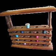 Useful Hardwood Wall Caddy Holder for Cotton Bobbin Display or Use