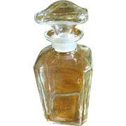 Antique Blown Flint Glass Apothecary Jar Early 1900's w/Ground Lid