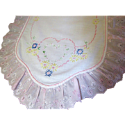 Super Pretty Hearts and Ruffles Scarf or Runner