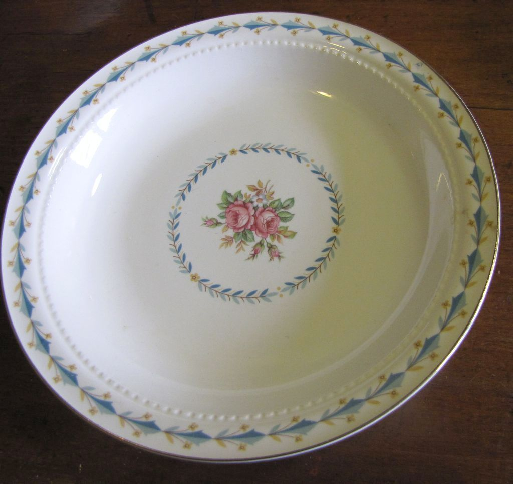 "Harmony House Mount Vernon 8"" Rimmed Soup Bowl By Hall China"