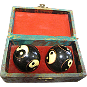 Vintage Oriental Stress Reliever Chime Balls