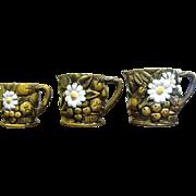 Nice Set of Three Measuring Cups, Circa 1960's Japan