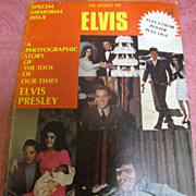Vintage Magazine Back Issue The World Of Elvis Memorial Issue 1977‏