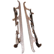 Wonderful Pair of Antique Winslow Ice Skates