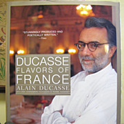 """For H, Alain Ducasse """"Flavors of France"""" Large Cookery Book, Like New"""