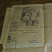 Pages from The State Newspaper Columbia SC August 1937 inc. Photo of Ghandi!