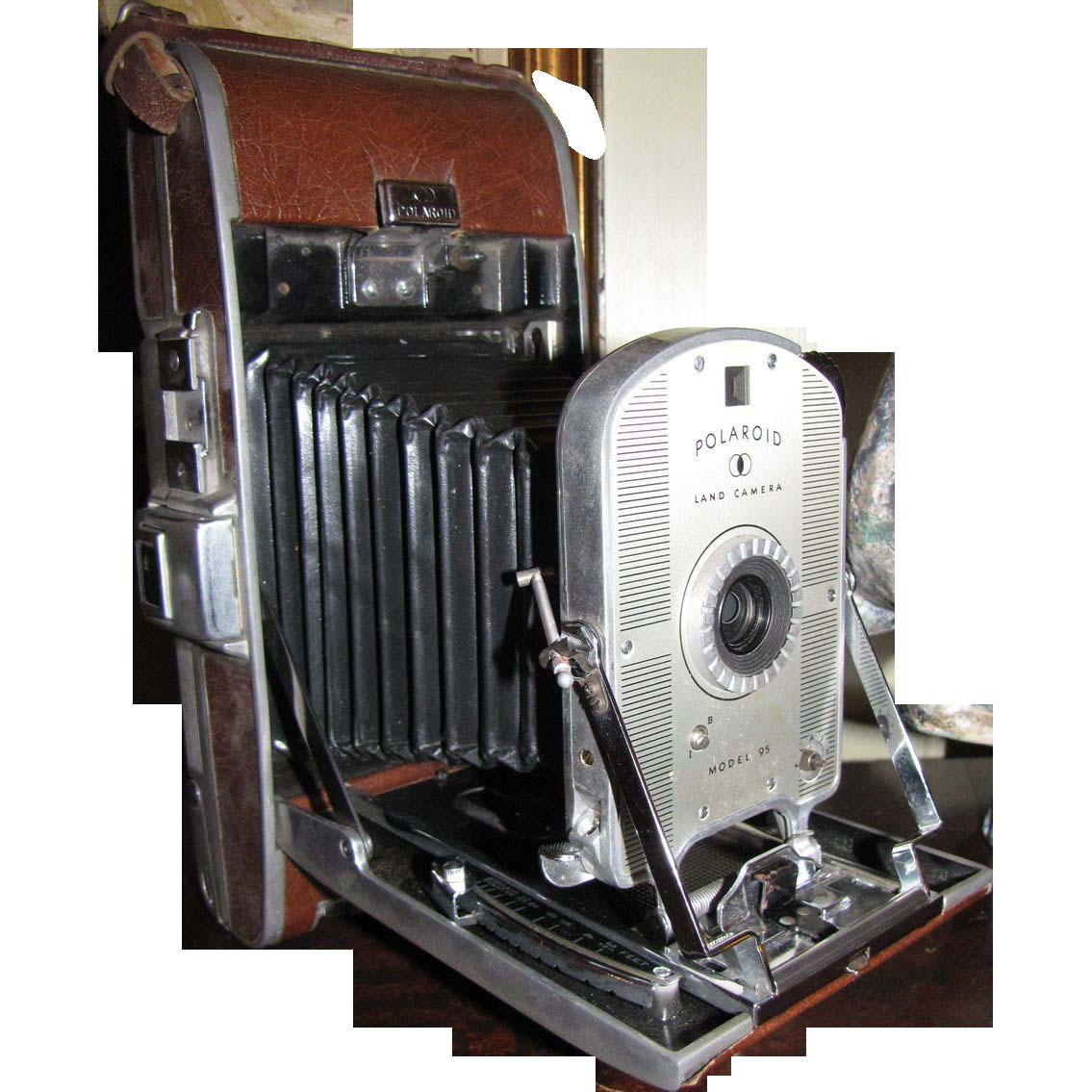 Model Land Movie: Vintage Polaroid Land Model 95 Instant Film Camera