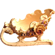 Beautiful Art Pottery Victorian Revival Sleigh Bowl by Vee Jackson