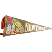 1961 New York City Pennant St Liberty, Emprire State etc!