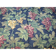 "Lovely 32""  Remnant of Waverly 14 Color Screen Printed Fabric"