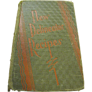 """1929 1st Edition, """"New Delineator Recipes"""" cookbook by Butterick Publishing Co."""