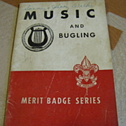 1947, BSA Boy Scouts of America Merit Badge Series MUSIC AND BUGLING‏
