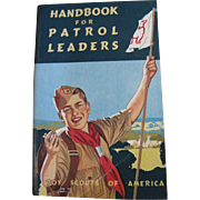 Vintage BSA Handbook for Patrol Leaders, 1955, Excellent!