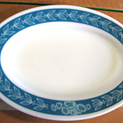 "11 1/2"" Cornin Pyrex Laurel Band Platter, Great Retro Design!"