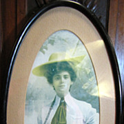 Victorian Lady Sporting Framed Print, Lady with Fishing Rod