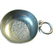 Handsome Antique French Pewter Tas-De-Vin Wine Taster‏