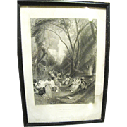 The Birdcage, 1862 Steel Engraving by J M W Turner