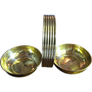 The Best Art Deco Solid Brass Two Bowl Server with Handle