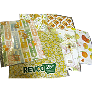 Assortment of Vintage/Retro Wrapping Papers, 6 Different Designs!
